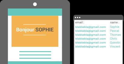 send-up responsive design personnalisation emailing