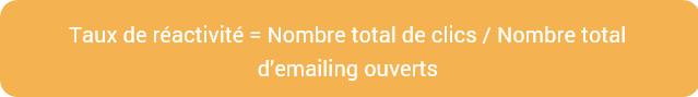 taux réactivité emailing