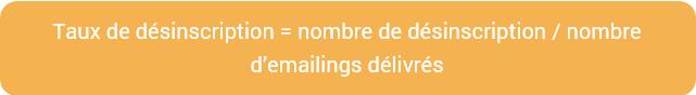taux désinscription emailing