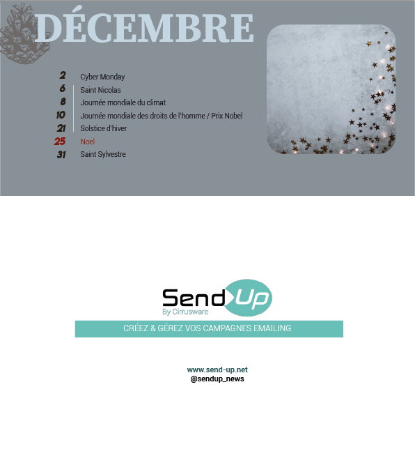 Calendrier 2019 Social Media par Send-Up