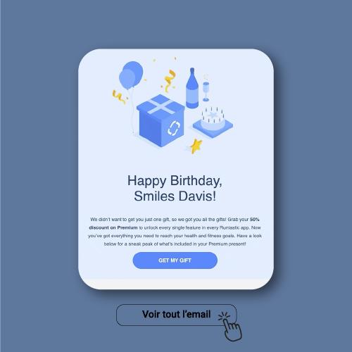 Exemple Email de Anniversaire